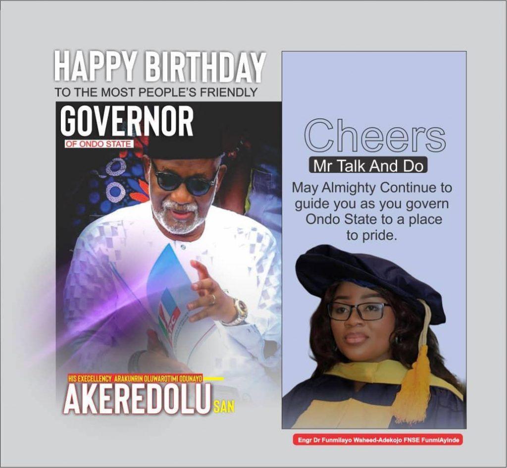 Birthday: FunmiAyinke celebrates Akeredolu, says he is a True Patriot