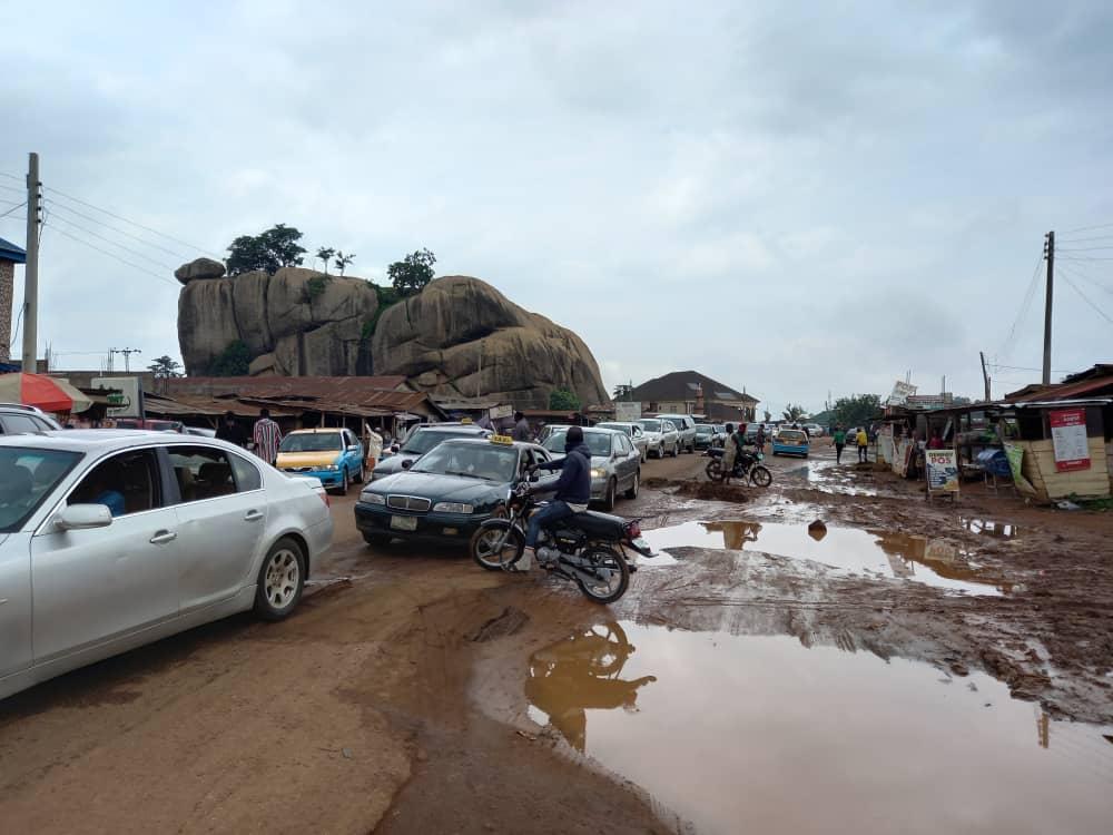 Protest in Ondo over Abandoned N22.6Billion Akure-Ado Ekiti federal road project