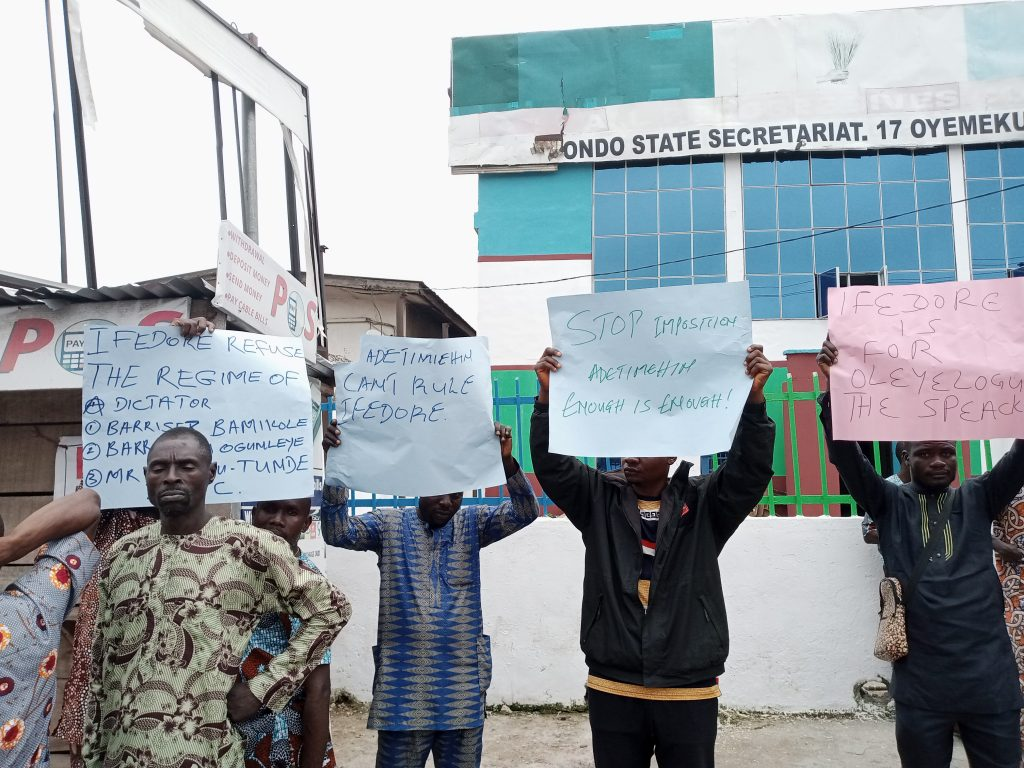 Akeredolu, Oleyelogun wade in as aggrieved APC Leaders reject 270 Ifedore Wards Exco